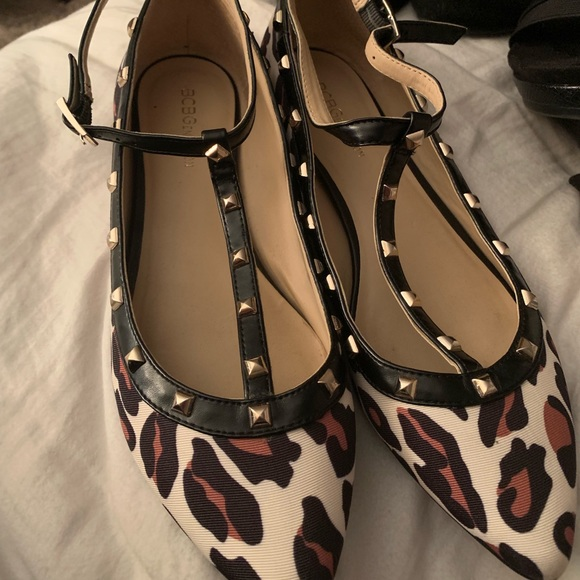 BCBGeneration Shoes - BCBG Leopard Flat with straps and studs!